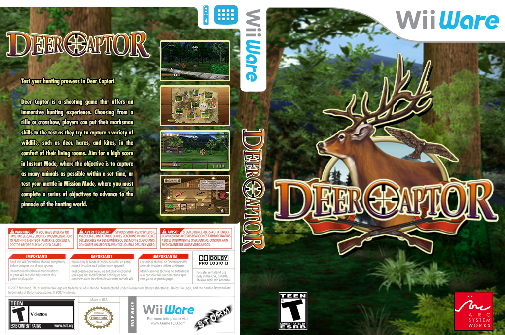 Deer Captor Wii coverfullHQ (W4KE)