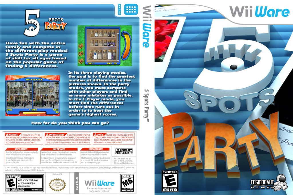 5 Spots Party Wii coverfullHQ (W54E)