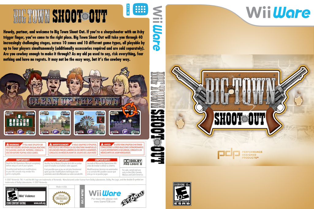 Big Town Shoot Out Wii coverfullHQ (W9BE)