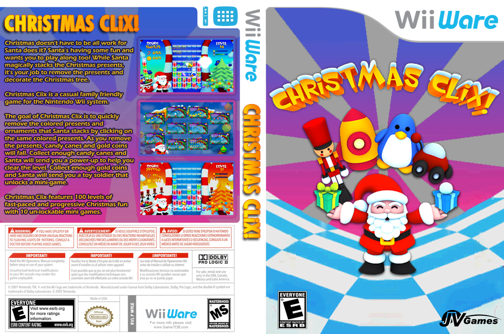 Christmas Clix Wii coverfullHQ (W9LE)