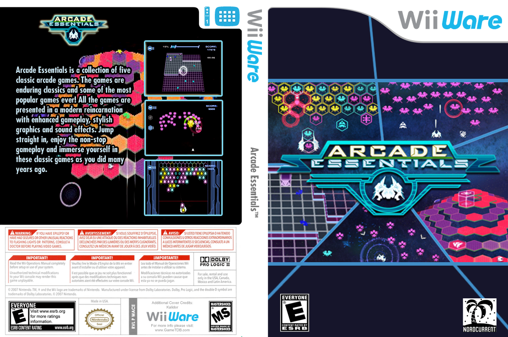 Arcade Essentials Wii coverfullHQ (WACE)