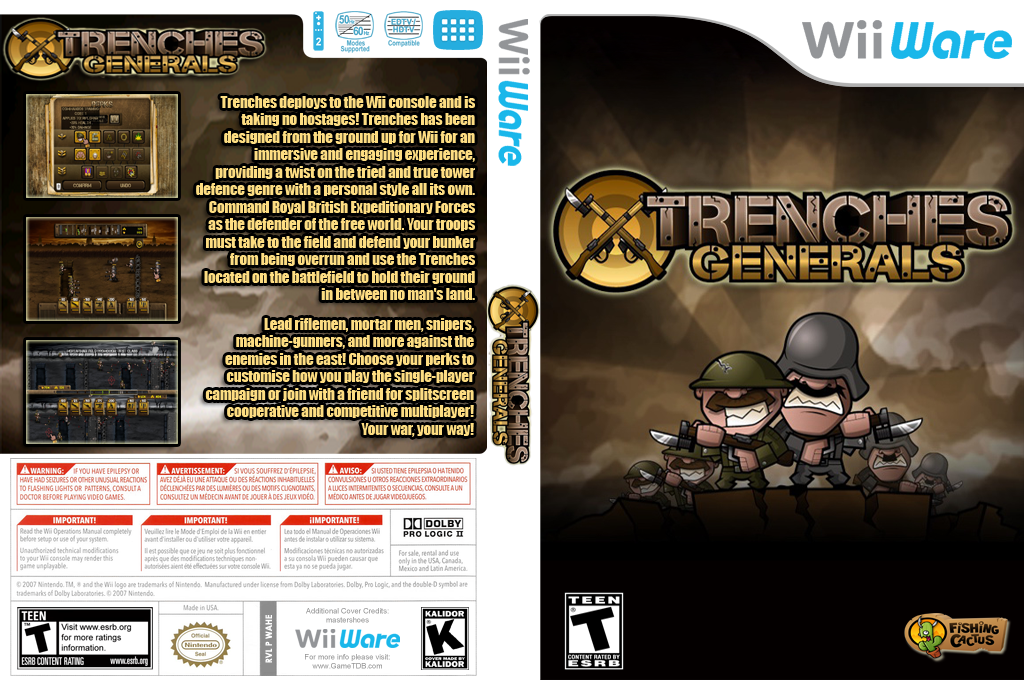 Trenches Generals Wii coverfullHQ (WAHE)