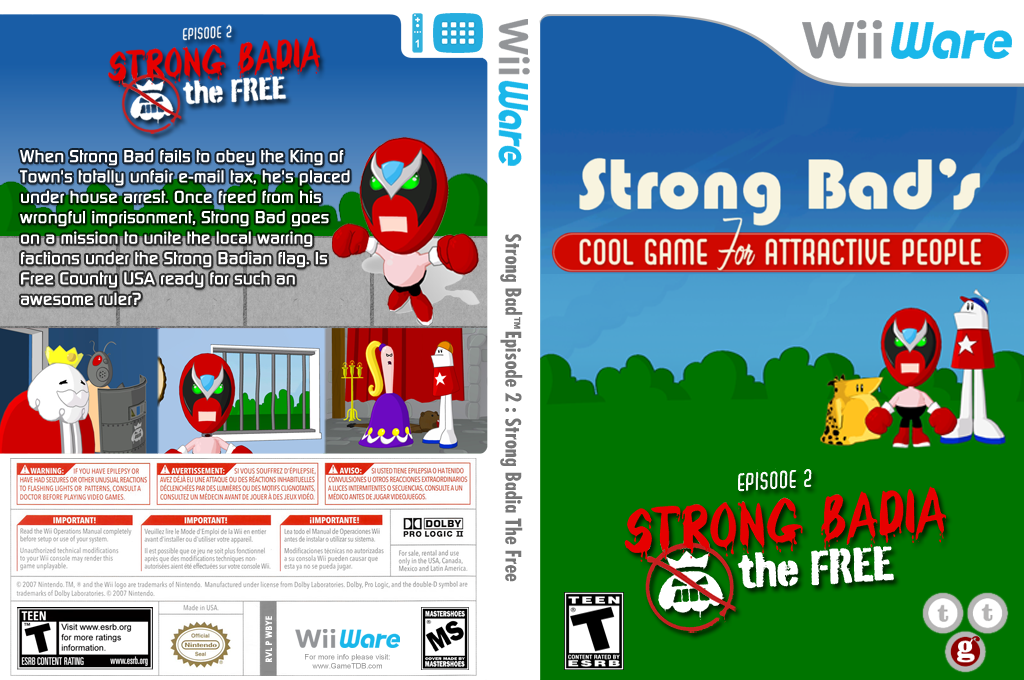 Strong Bad Episode 2: Strong Badia - The Free Wii coverfullHQ (WBYE)