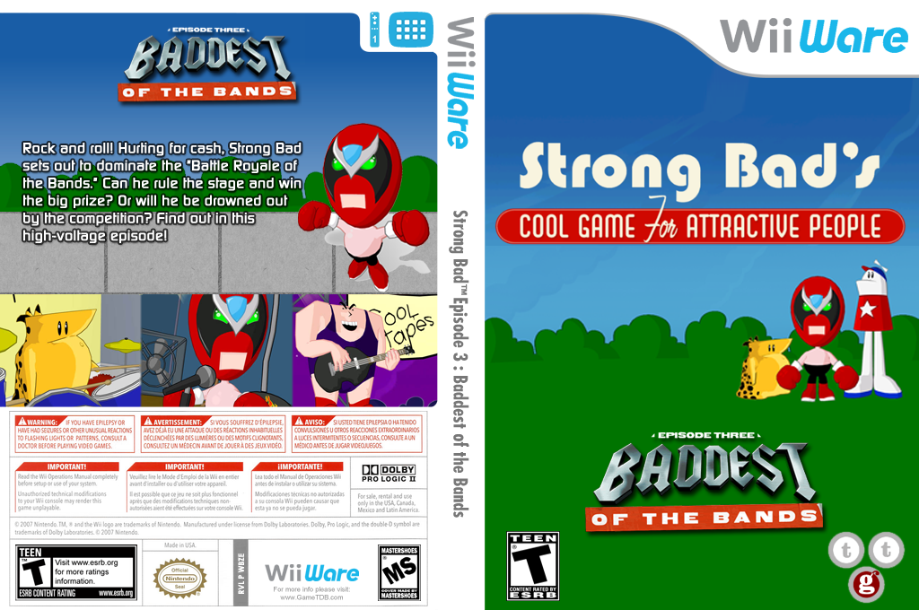 Strong Bad Episode 3: Baddest of the Bands Wii coverfullHQ (WBZE)