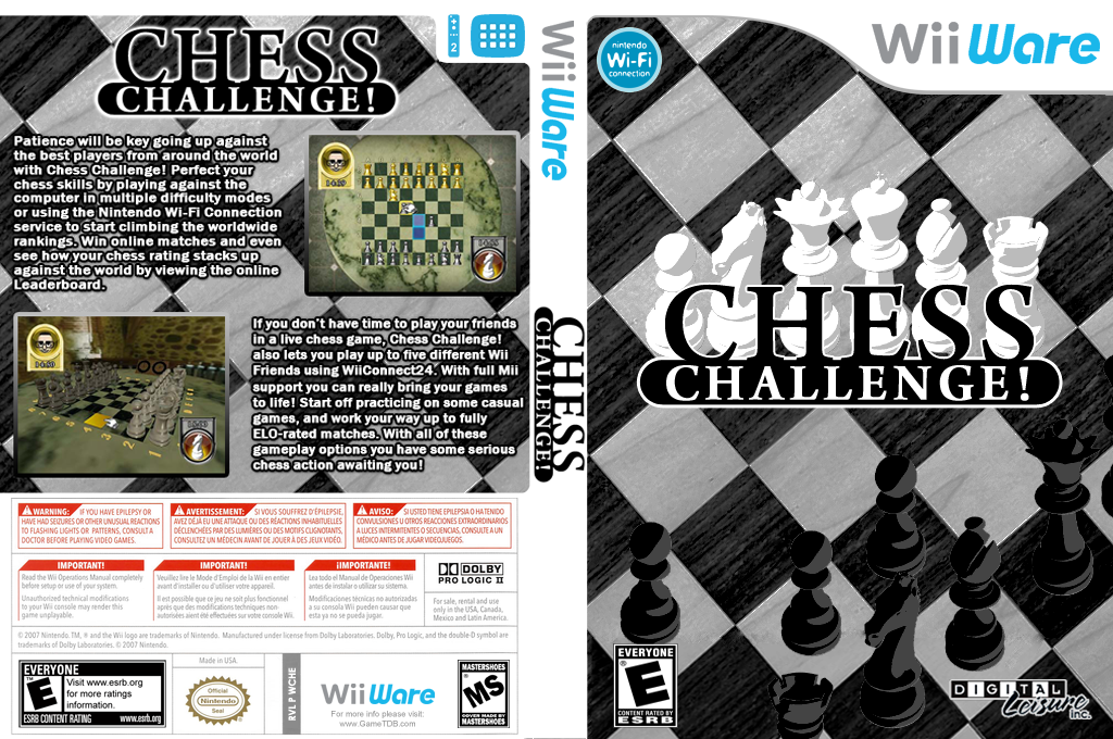 Chess Challenge! Wii coverfullHQ (WCHE)