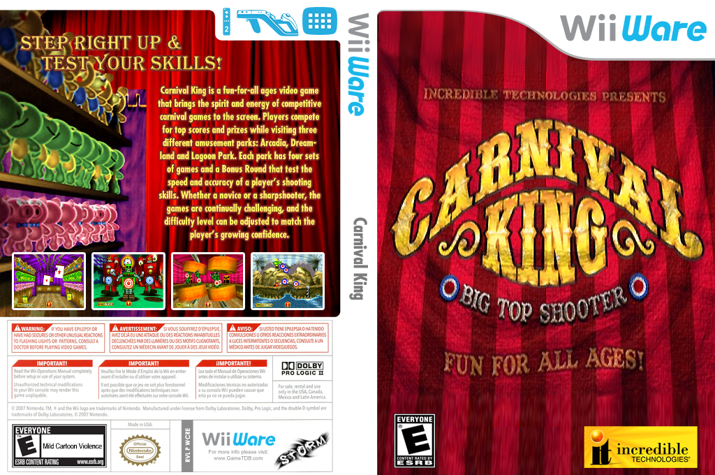 Carnival King Wii coverfullHQ (WCRE)