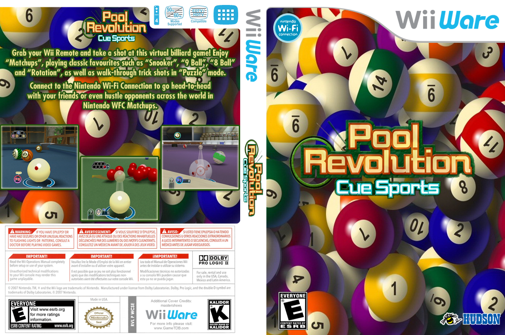 CueSports: Pool Revolution Wii coverfullHQ (WCSE)