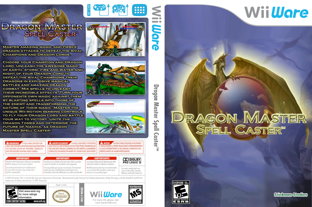 Dragon Master Spell Caster Wii coverfullHQ (WDSE)