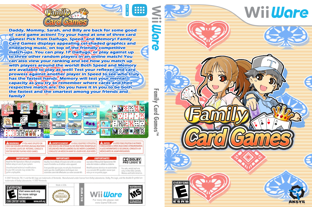 Family Card Games Wii coverfullHQ (WF5E)