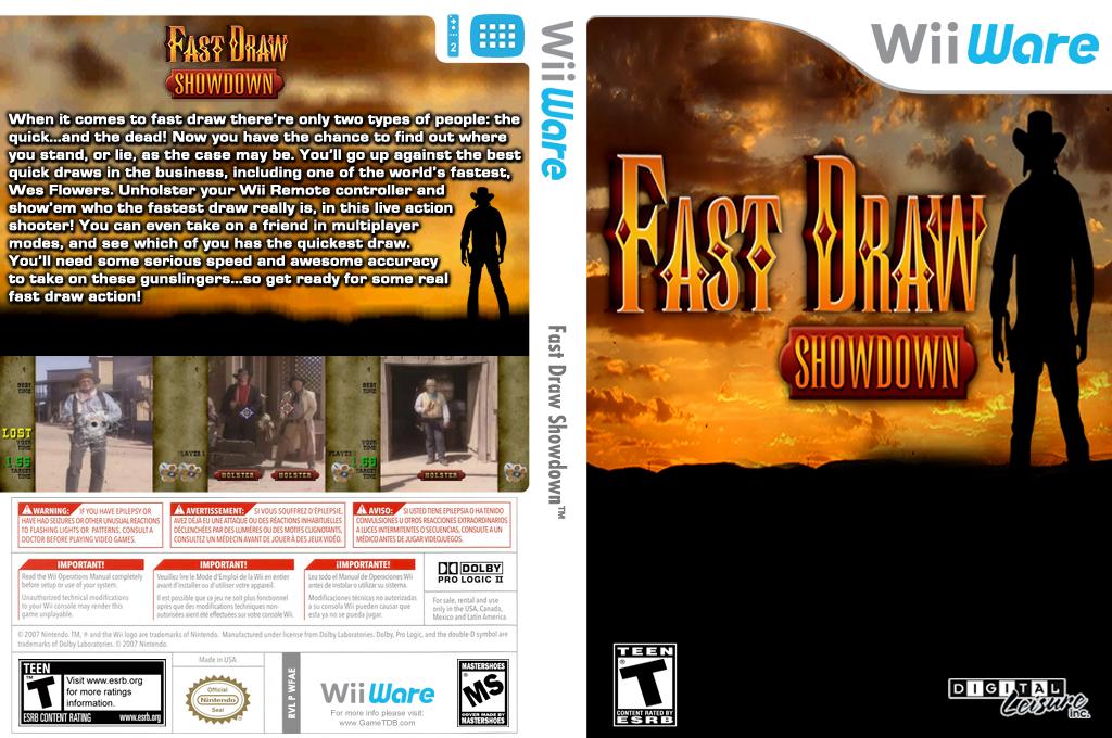 Fast Draw Showdown Wii coverfullHQ (WFAE)