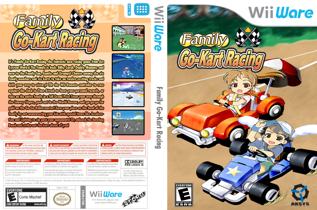 Family Go-Kart Racing Wii coverfullHQ (WFKE)