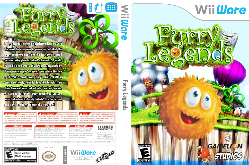 Furry Legends Wii coverfullHQ (WFUE)