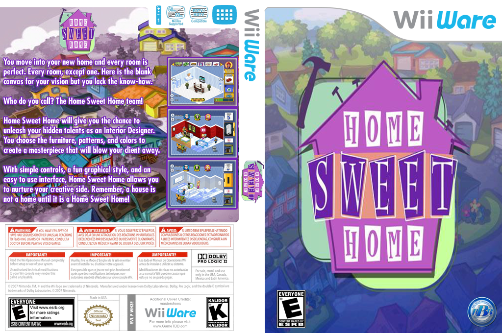 Home Sweet Home Wii coverfullHQ (WH3E)
