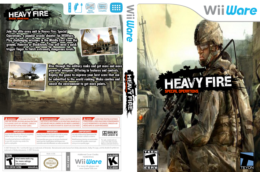 Heavy Fire: Special Operations Wii coverfullHQ (WHFE)