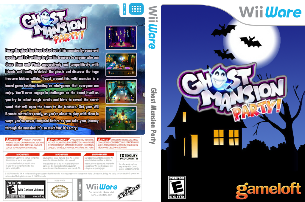 Ghost Mansion Party Wii coverfullHQ (WHUE)