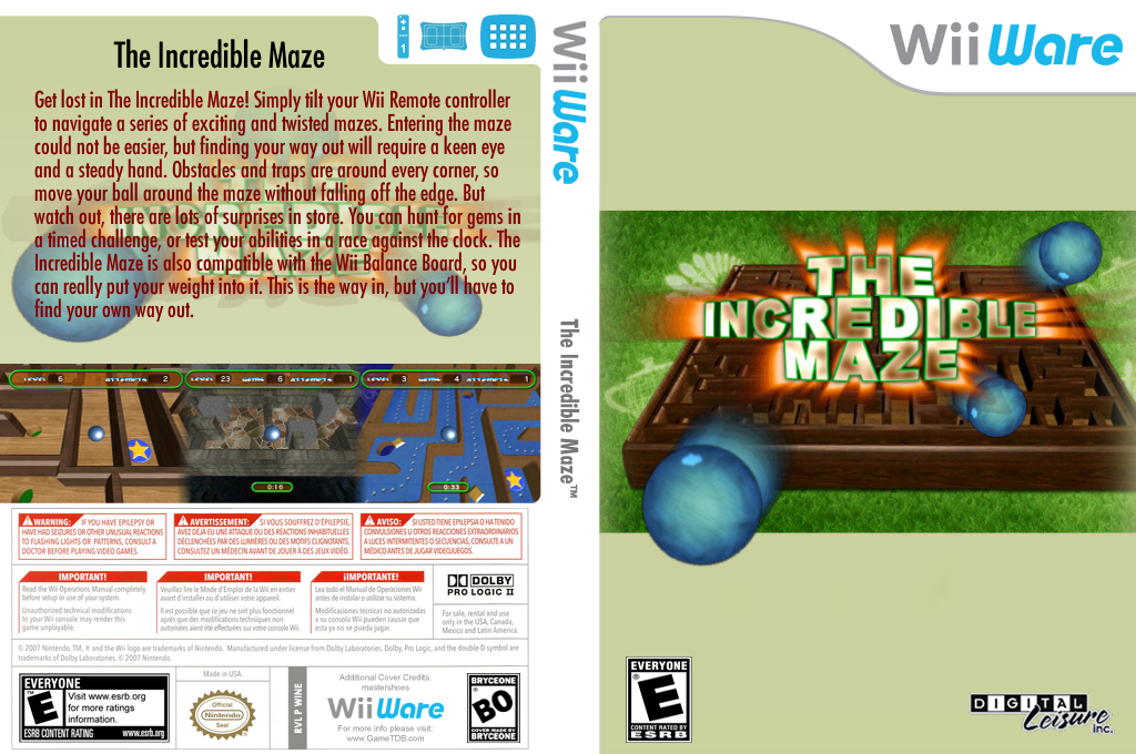The Incredible Maze Wii coverfullHQ (WINE)