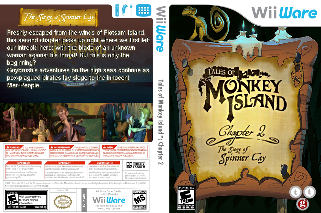 Tales of Monkey Island: Chapter 2 - The Seige of Spinner Cay Wii coverfullHQ (WISE)