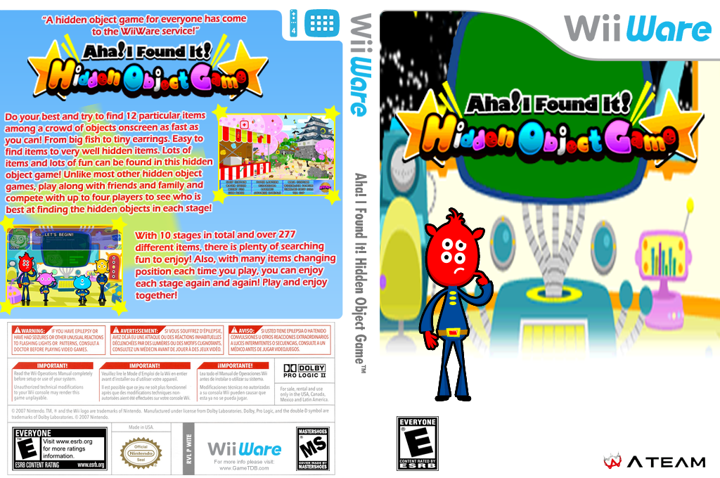 Aha! I Found It! Hidden Object Game Wii coverfullHQ (WITE)