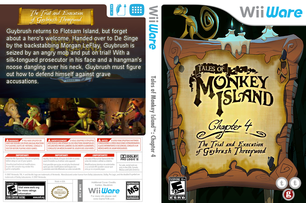 Tales of Monkey Island: Chapter 4 - The Trial and Execution of Guybrush Threepwood Wii coverfullHQ (WIYE)