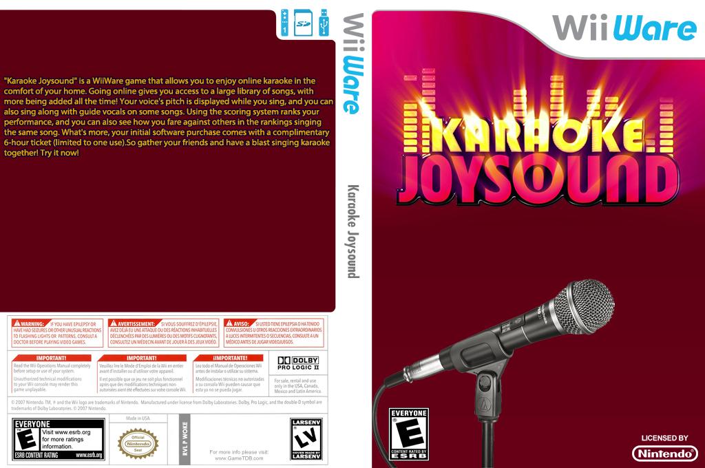 Karaoke Joysound Wii coverfullHQ (WKJE)