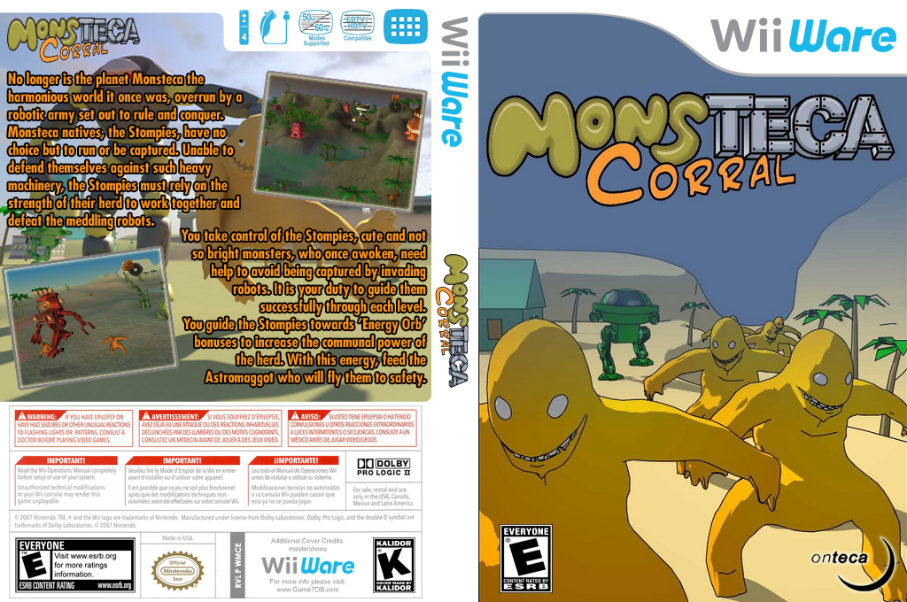 Monsteca Corral: Monsters vs. Robots Wii coverfullHQ (WMCE)