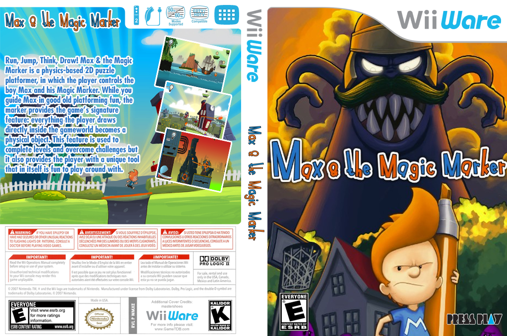 Max & The Magic Marker Wii coverfullHQ (WMXE)