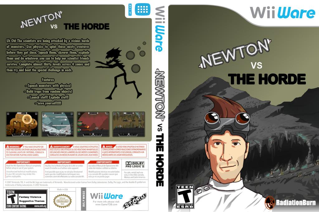 Newton Vs The Horde Wii coverfullHQ (WNSE)