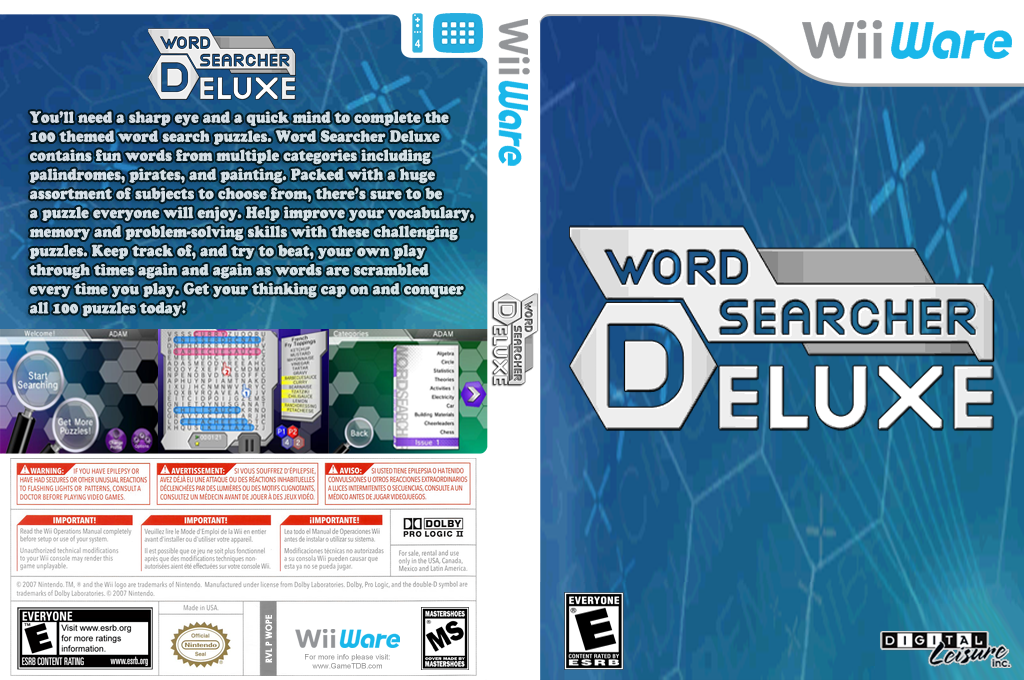 Word Searcher Deluxe Wii coverfullHQ (WOPE)