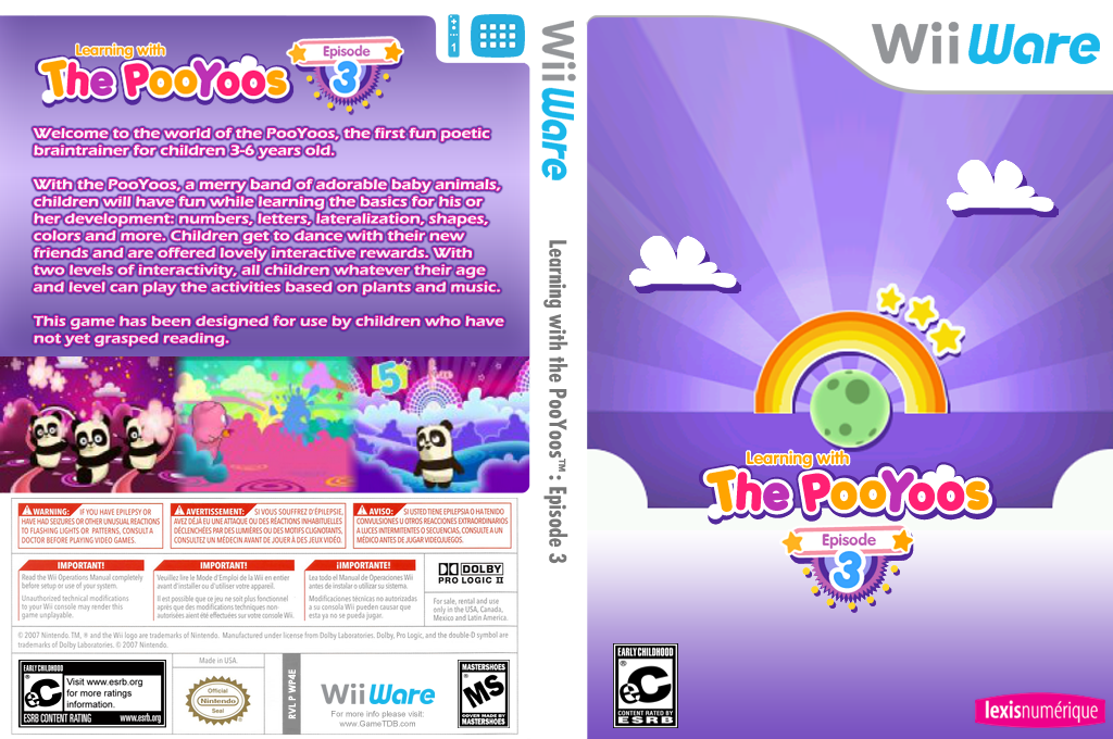 Learning with the PooYoos: Episode 3 Wii coverfullHQ (WP4E)