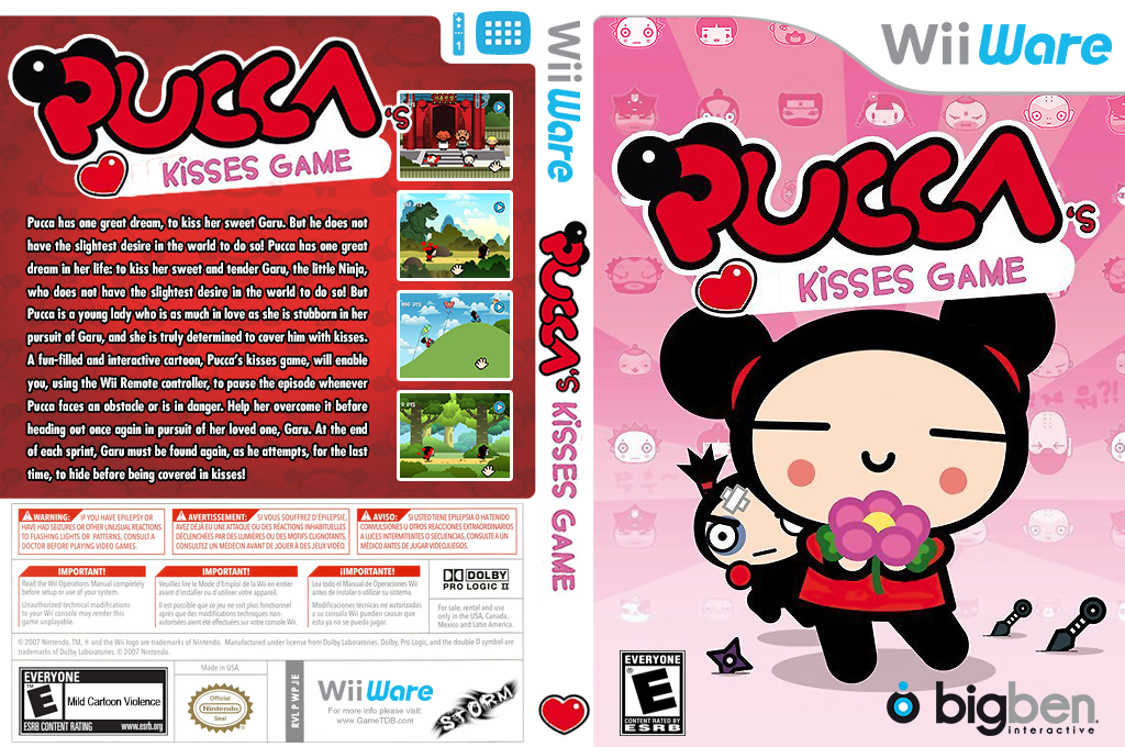 Pucca's Kisses Game Wii coverfullHQ (WPJE)