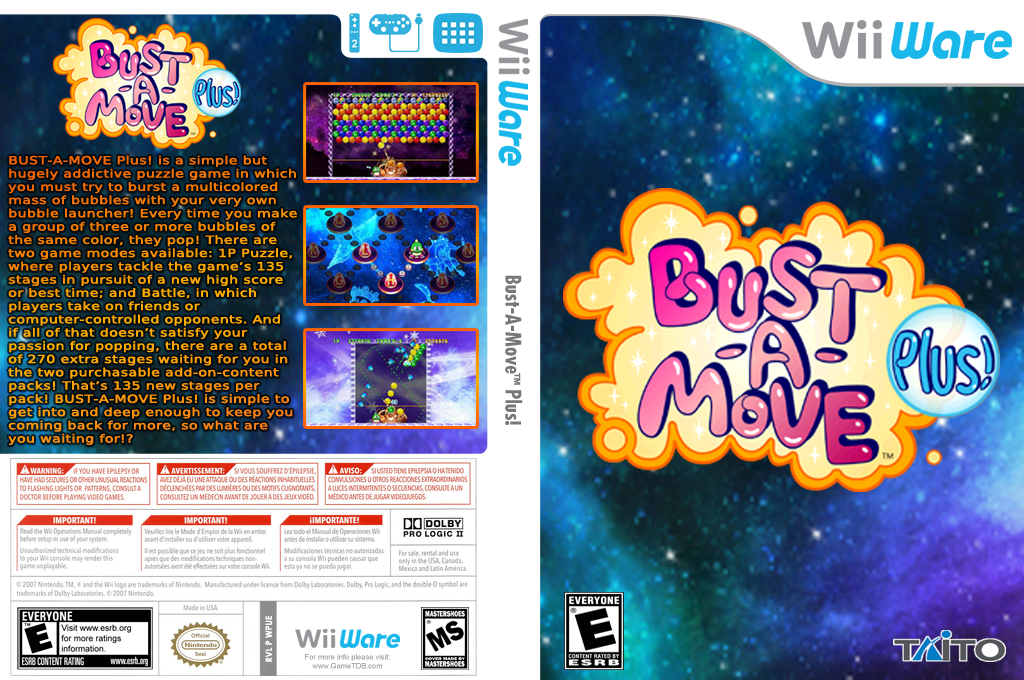 Bust-A-Move Plus! Wii coverfullHQ (WPUE)