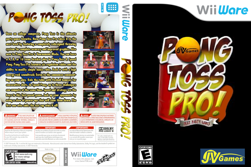 Pong Toss Pro - Frat Party Games Wii coverfullHQ (WPWE)