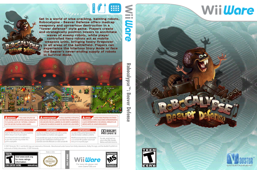 Robocalypse - Beaver Defense Wii coverfullHQ (WRBE)