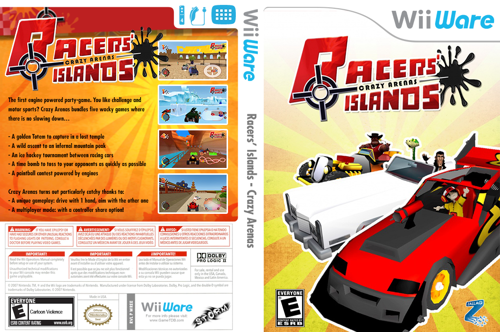 Racers' Islands - Crazy Arenas Wii coverfullHQ (WREE)