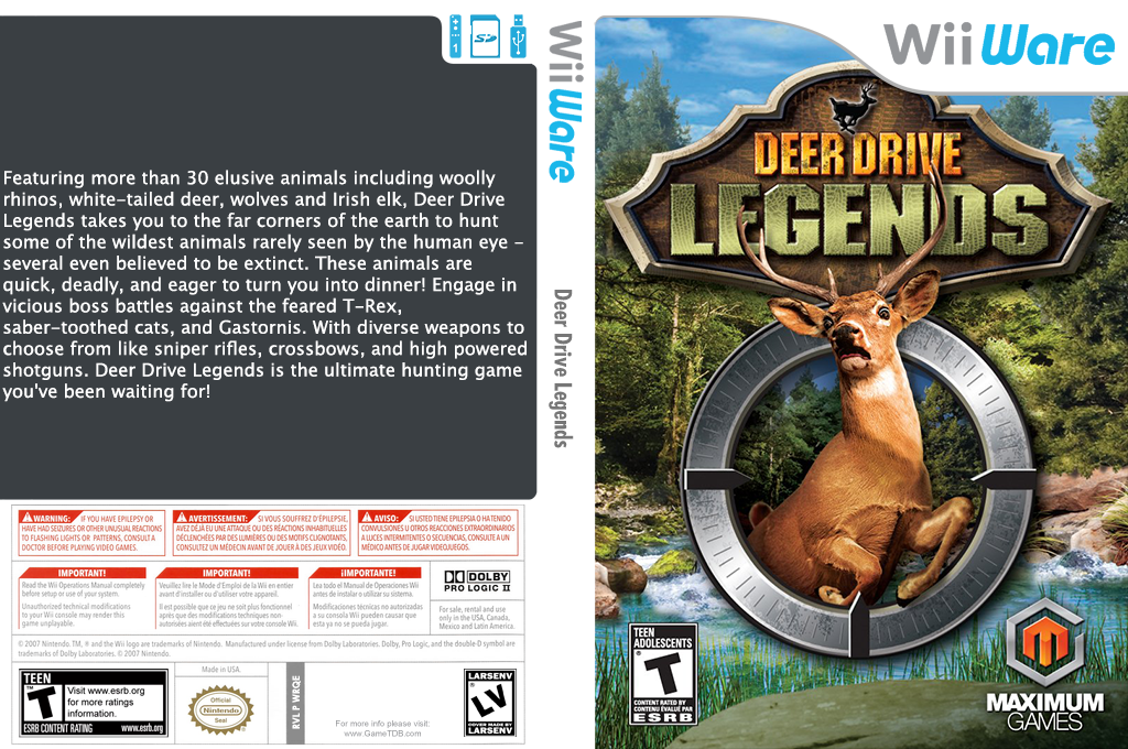 Deer Drive Legends Wii coverfullHQ (WRQE)
