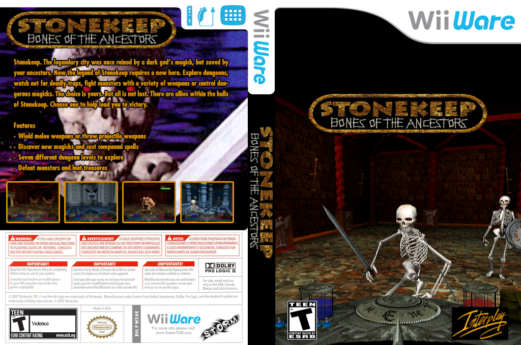 Stonekeep: Bones of the Ancestors Wii coverfullHQ (WSHE)
