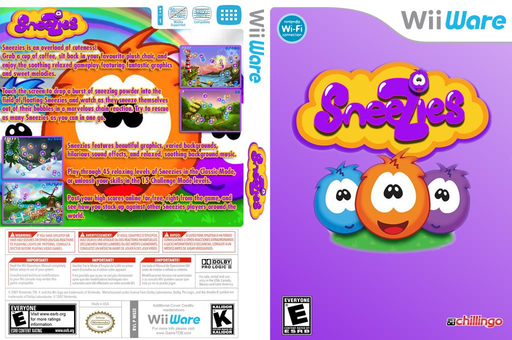 Sneezies Wii coverfullHQ (WSZE)