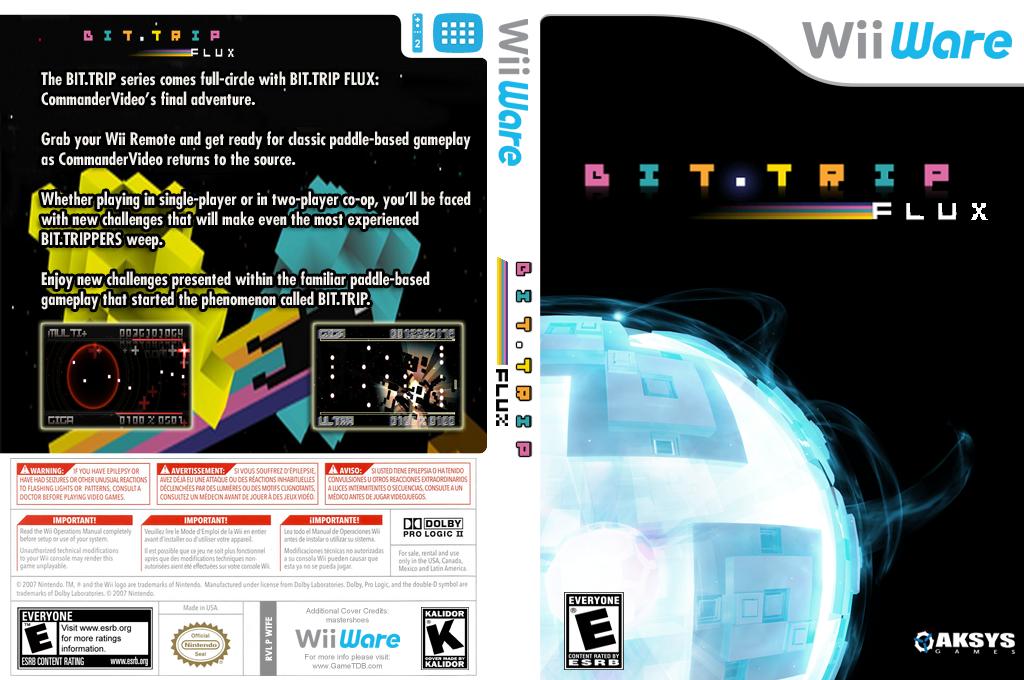 Bit.Trip: Flux Wii coverfullHQ (WTFE)