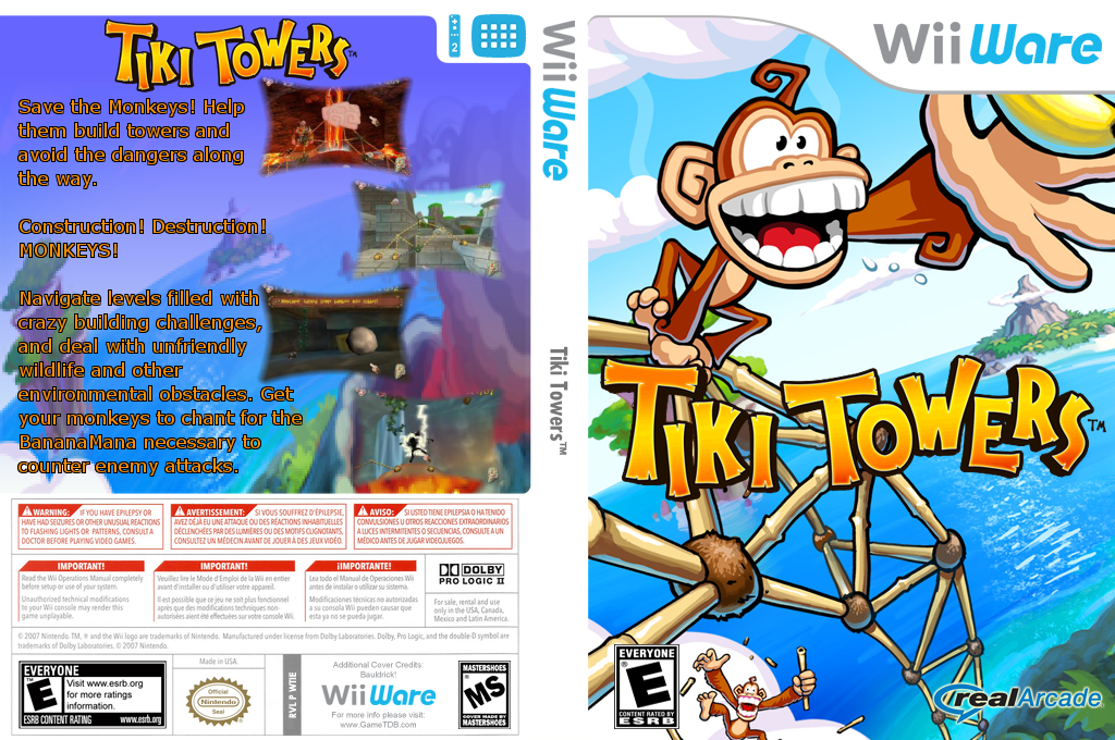 Tiki Towers Wii coverfullHQ (WTIE)