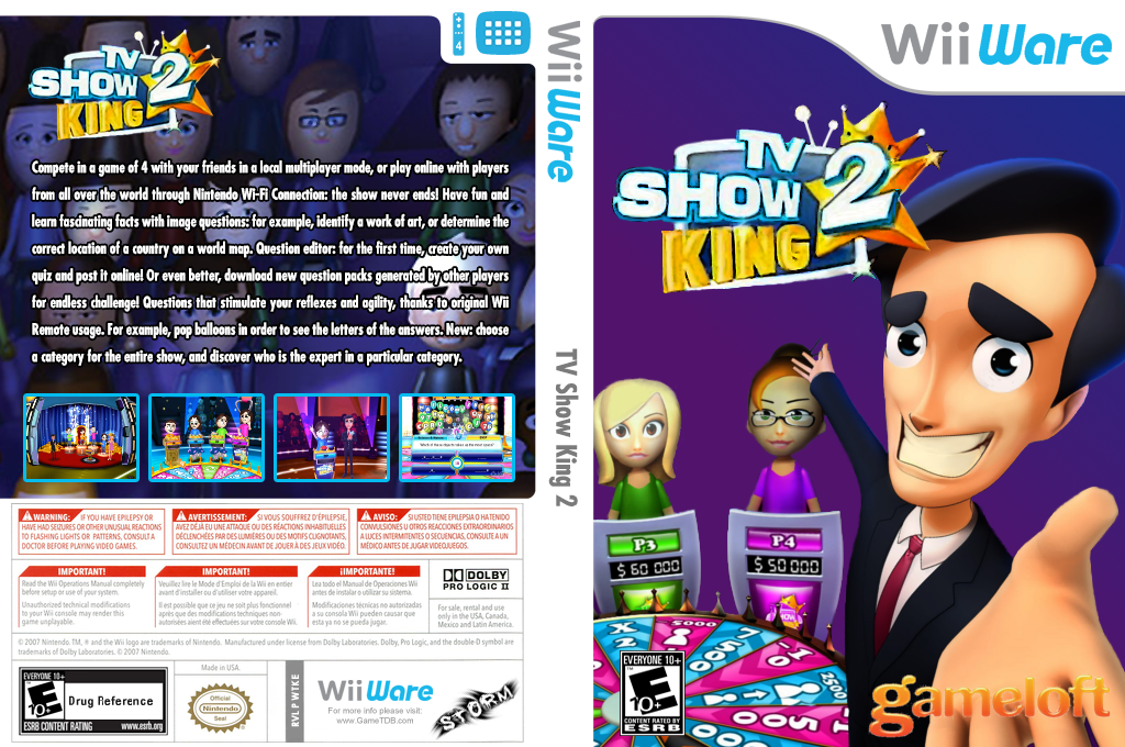 TV Show King 2 Wii coverfullHQ (WTKE)