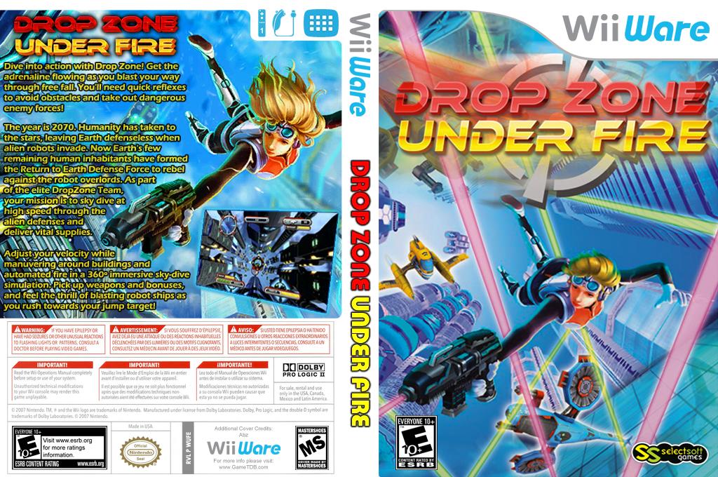 Drop Zone: Under Fire Wii coverfullHQ (WUFE)