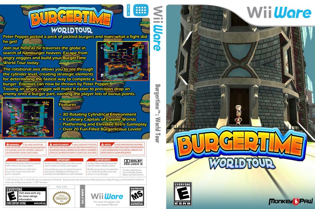 BurgerTime World Tour Wii coverfullHQ (WWTE)