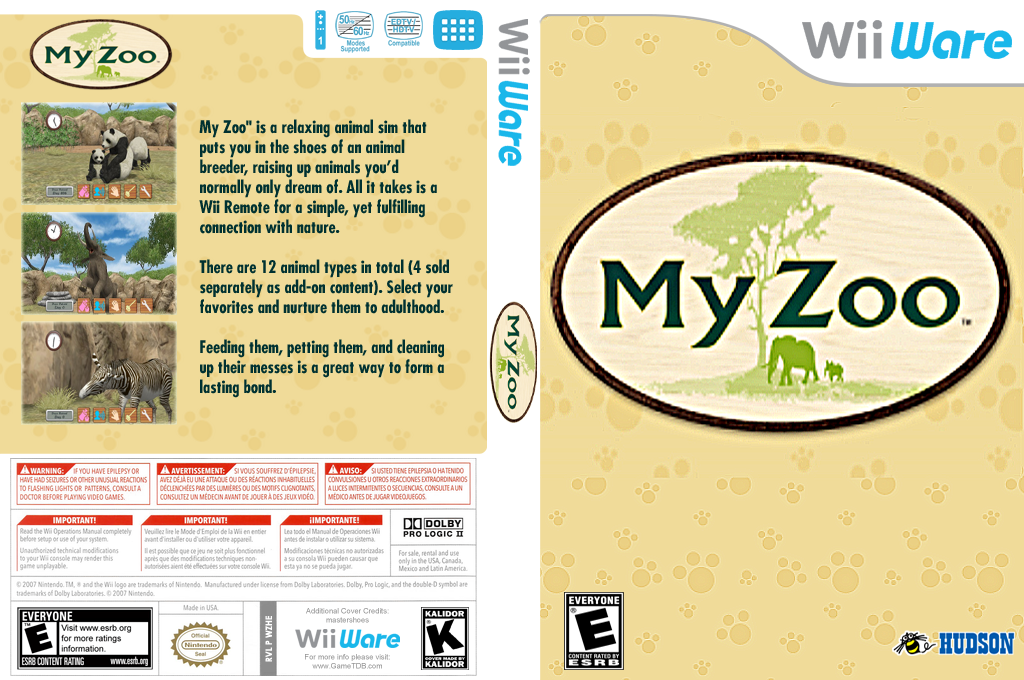 My Zoo Wii coverfullHQ (WZHE)