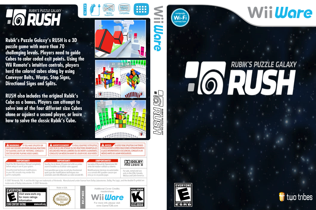 Rubik's Puzzle Galaxy RUSH Wii coverfullHQ (WZIE)