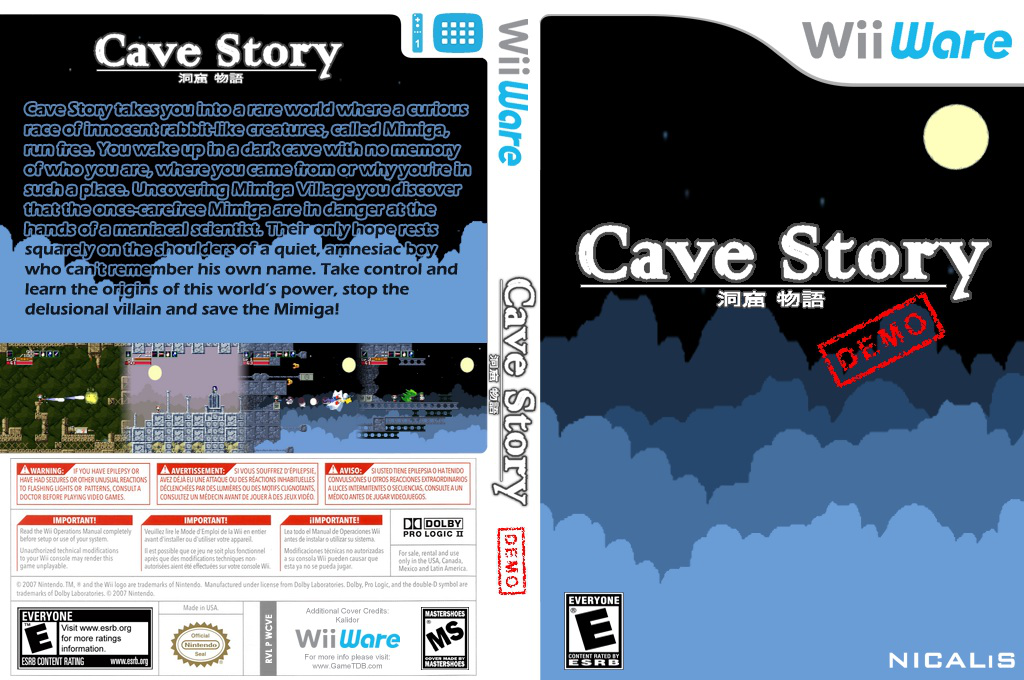 Cave Story (Demo) Wii coverfullHQ (XH2E)