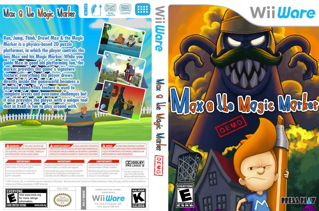 Max and the Magic Marker (Demo) Wii coverfullHQ (XH4E)
