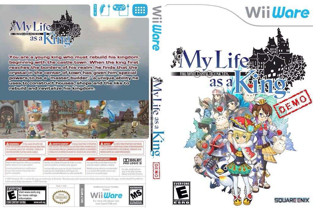 Final Fantasy Crystal Chronicles: My Life as a Darklord (Demo) Wii coverfullHQ (XHCE)