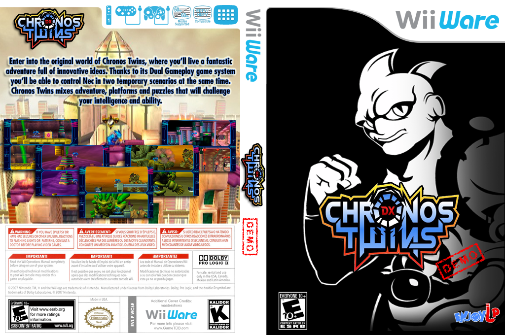 Chronos Twins DX (Demo) Wii coverfullHQ (XHZE)