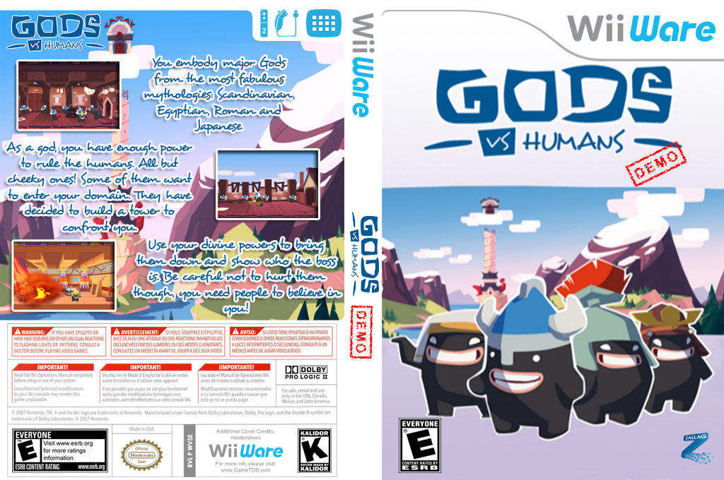 Gods vs Humans Demo Wii coverfullHQ (XICE)