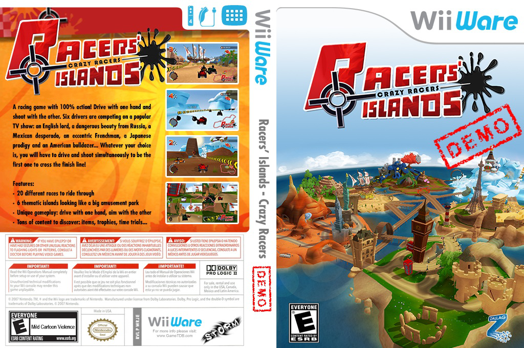 Racers Islands Crazy Racers Demo Wii coverfullHQ (XIDE)